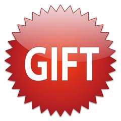 sticker red gift