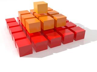 Piramide de cubos