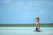 Fishing and paddleboarding in tropical destination