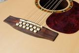 bridge view of an acoustic twelve strings guitar poster