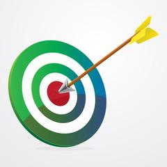 Arrow hit on target