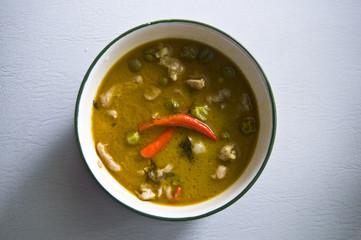 a Bowl of Green Thai Curry