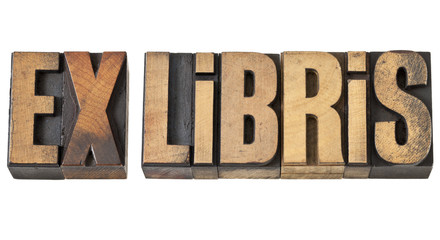 ex libris in wood type