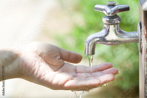 水を救う手