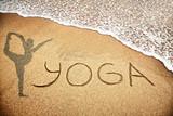 Yoga on the sand