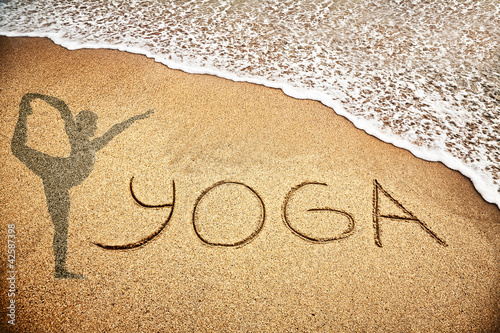 Yoga on the sand