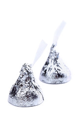 two chocolate kisses