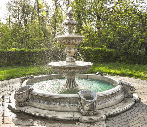 fountain multi-tiered