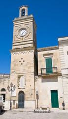 Clocktower. Castrignano de' Greci. Puglia. Italy.