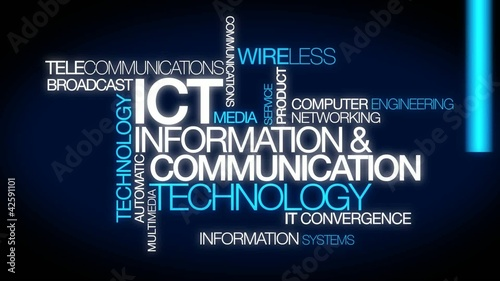 Information and Communications Technology tag cloud animation