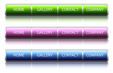 buttons glossy web, vector
