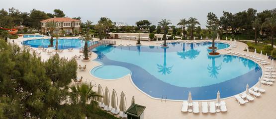 Panorama of swimming pool