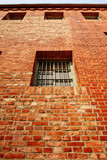 Windows on the prison wall