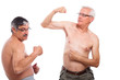 Seniors compare muscles