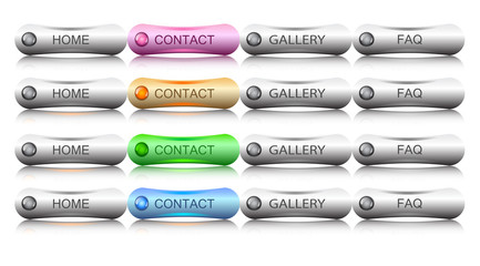 original buttons for web, vector