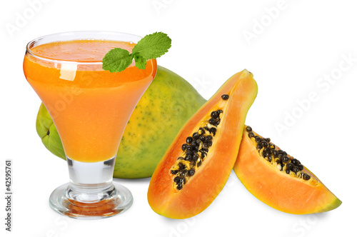 blended papaya juice