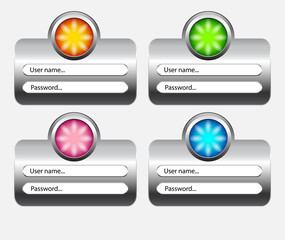 buttons log in