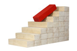 decrease fall down career business concept with stairs poster