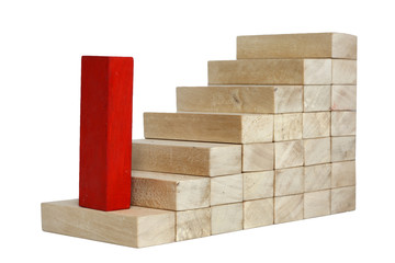 increase growth career business concept with stairs