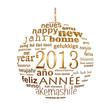 2013, boule dorée multilangues