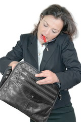 Geschäftsfrau im Stress
