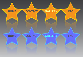 Creative star buttons for web
