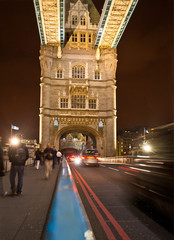 Traffic on Tower Bridge