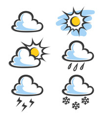 weather icon vector illustration isolated on white background
