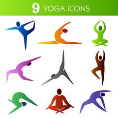 Nine Yoga Icons