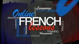 Online French lesson e-learning word tag cloud animation video