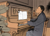 Ragtime pianist