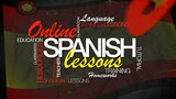 Online Spanish lesson e-learning word tag cloud animation video
