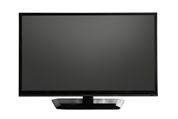 tv screen with black display