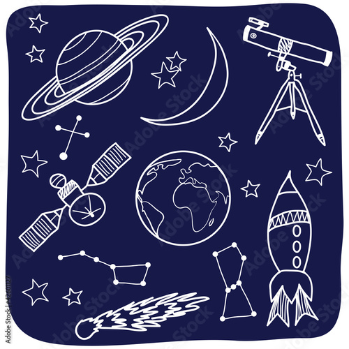 Astronomy - space and night sky objects