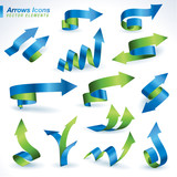 Set of vector arrows icons