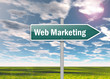"Signpost ""Web Marketing"""