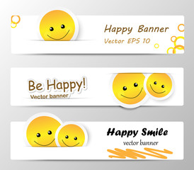 Happy banners