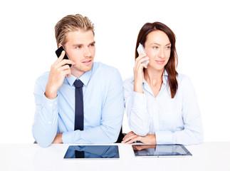 telefonieren und arbeiten