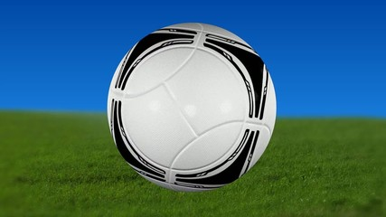 Fußball Animation Rasen Himmel  Loop 2012 Tango HD