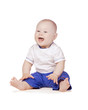 Detaily fotografie Cute blond baby boy smiling