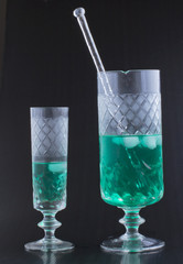Water and mint