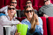 Couple in cinema with 3d glasses
