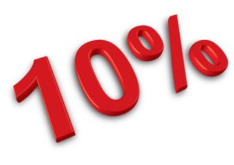 ten percent red sale