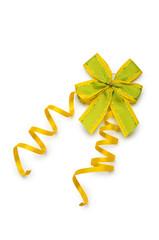 Celebration ribbons on white background