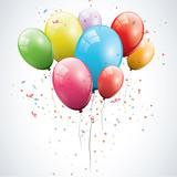 Fototapety Glossy birthday balloons