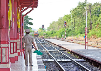 An image of the Hua Hin train station in Thailand.