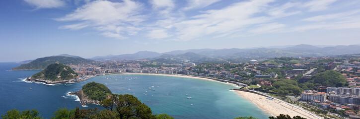 Panorámica de la Bahía de San Sebastián