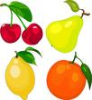 Cartoon fruit set