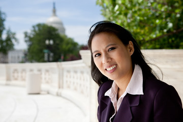 Asian business woman on Capitol Hill
