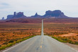 Highway 163 in Monument Valley